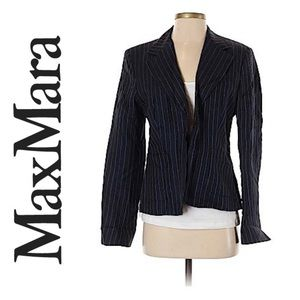 MaxMara Navy Linen Weekend Blazer
